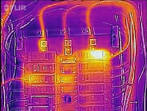Thermal imaging of electrical panel